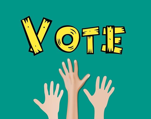 hlasující ruce