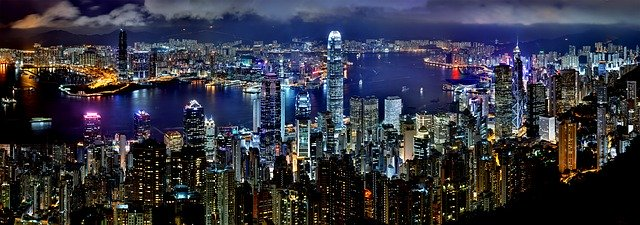 Panorama Hong Kongu s mrakodrapy