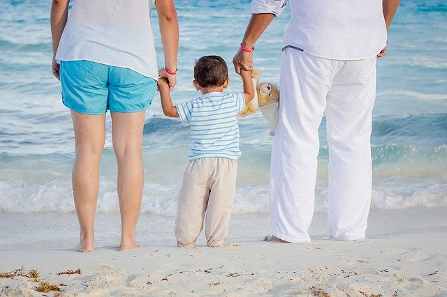 rodina u moře